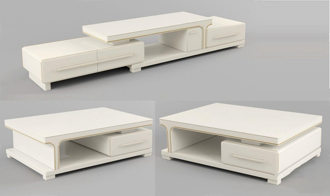 现代电视柜茶几组合3D模型【ID:628049085】