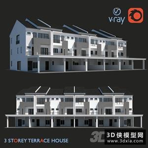 別墅外景模型下載國外3D模型【ID:329326311】