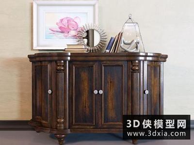 欧式装饰柜国外3D模型【ID:829476018】
