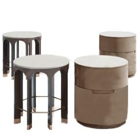 现代边几凳子3D模型【ID:128223244】