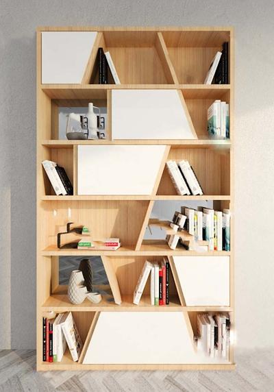 现代书柜3D模型【ID:924897506】