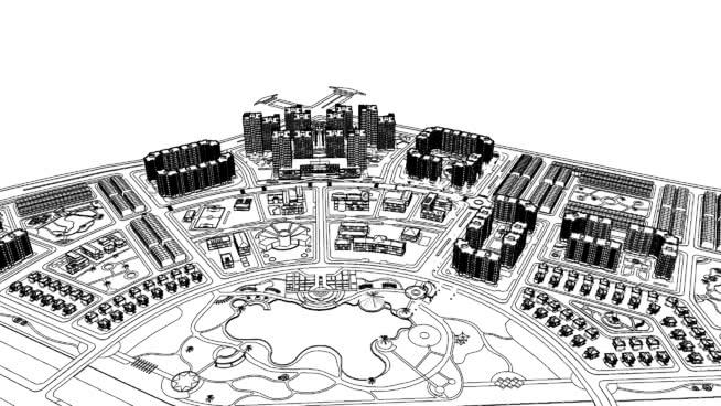城市規劃SU模型【ID:139472323】