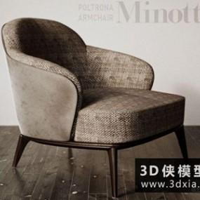 现代休闲椅国外3D模型【ID:729630842】