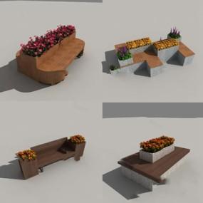现代户外椅3D模型【ID:324884329】