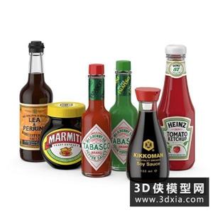 調味品國外3D模型【ID:929816517】