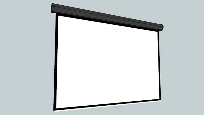 投影儀屏幕SU模型【ID:939475606】