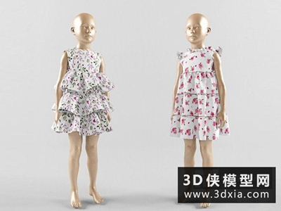 童裝國外3D模型【ID:929769657】