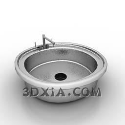 d洗手盆sdown119-3DS格式3D模型【ID:16180】