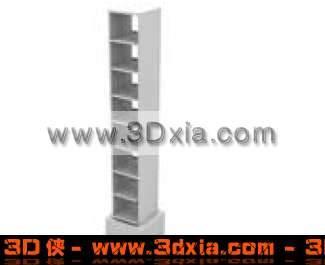 3D普通的多层架子模型3D模型【ID:1643】