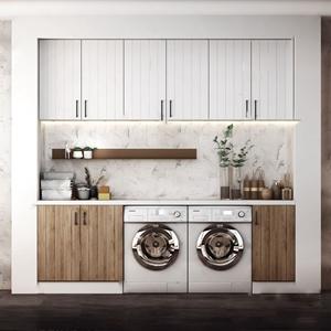 北欧现代风格阳台洗衣柜组合3D模型【ID:142042768】