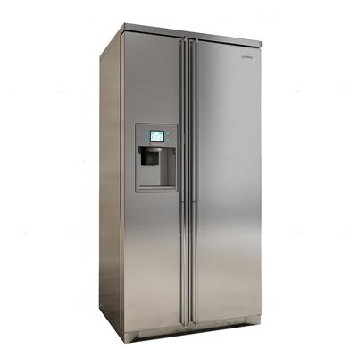 现代双开门冰箱3D模型【ID:16839922】