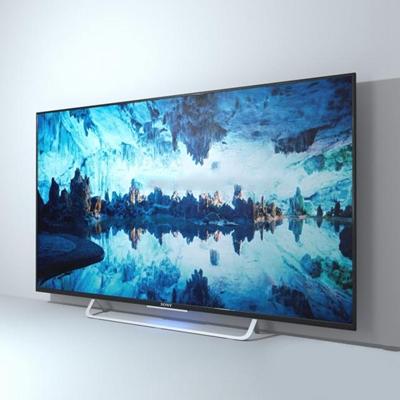 现代超薄液晶电视机显示屏3D模型【ID:16858537】