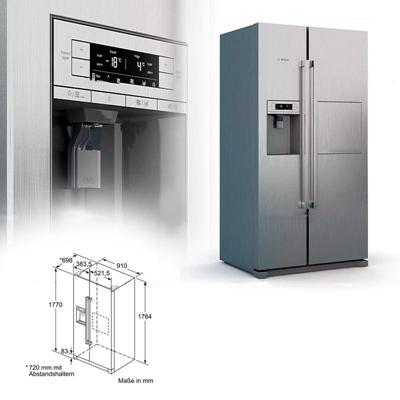 现代双开门单开门冰箱冰柜组合3D模型【ID:16863021】
