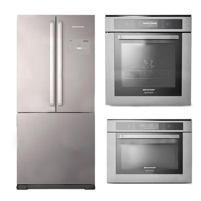 现代冰箱烤箱微波炉组合3D模型【ID:16868126】