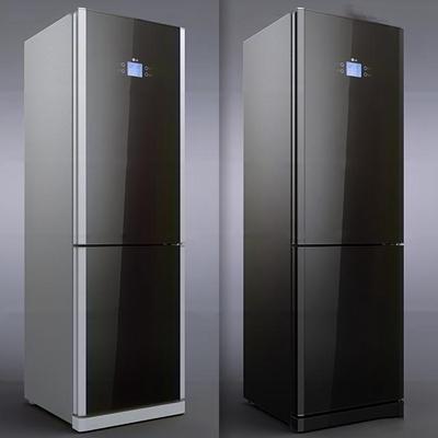 现代冰箱组合3D模型【ID:16881921】
