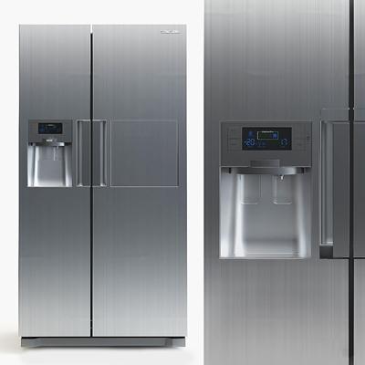 现代双门冰箱3D模型【ID:16884421】