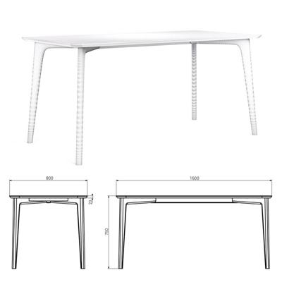 现代简约实木桌子国外模型3D模型【ID:16894826】