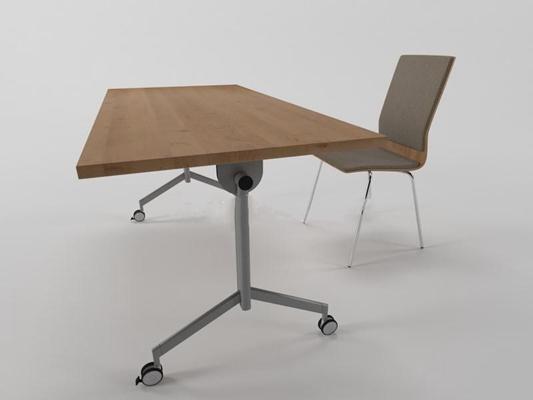 办公书桌现代简约3D模型【ID:16913499】