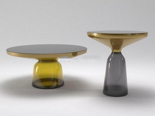 现代创意水晶玻璃面圆形茶几创意边几3D模型【ID:16919222】