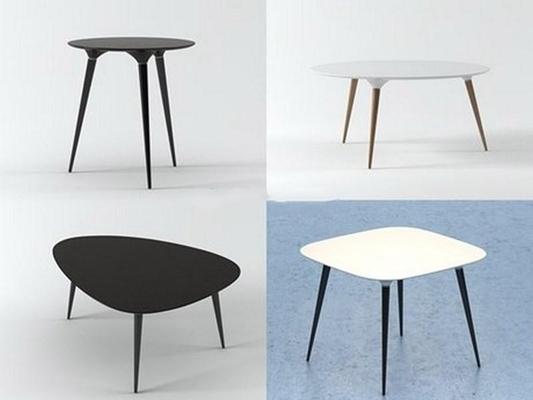 简约现代不规则桌时尚沙发几3D模型【ID:16919321】