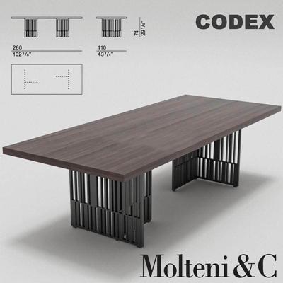美式复古铁艺做旧家具实木长方形桌办公桌3D模型【ID:16920322】