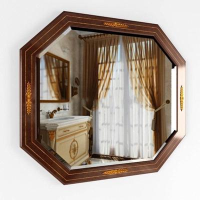 新古典实木八角挂镜模型3D模型【ID:16925496】