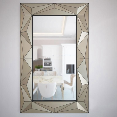 现代简约菱形边框镜子模型3D模型【ID:16925597】