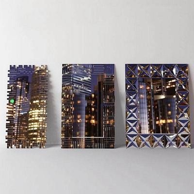 现代都市创意墙饰画模型3D模型【ID:16925693】