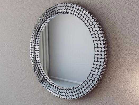 欧式马赛克圆点装饰镜欧式3D模型【ID:16925793】