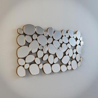 鹅卵石形镜面装饰装饰3D模型【ID:16925997】