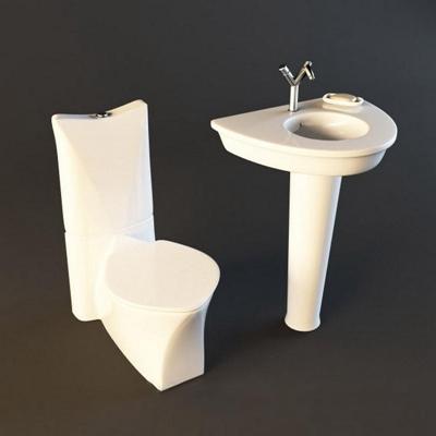 马桶020白色3D模型【ID:16934399】