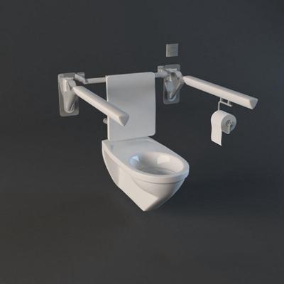 马桶014白色3D模型【ID:16934591】