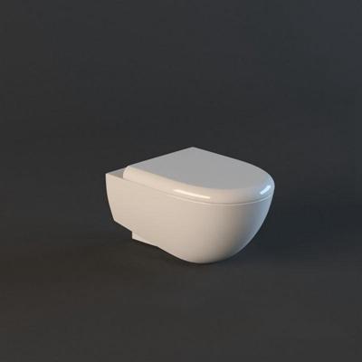 马桶003白色3D模型【ID:16934792】