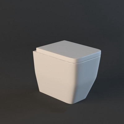 马桶001白色3D模型【ID:16934796】
