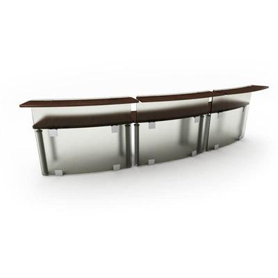 现代工艺磨砂玻璃隔板办公桌1欧式3D模型【ID:16937596】