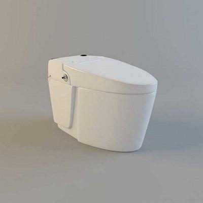 马桶019白色3D模型【ID:16954795】