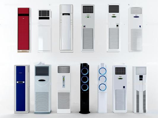 现代柜式空调组合3D模型【ID:16961947】