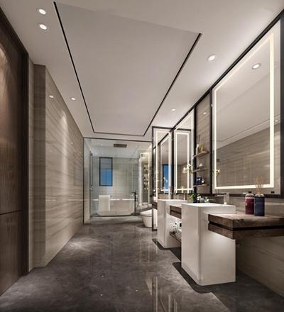 现代卫生间浴室3D模型【ID:16964464】