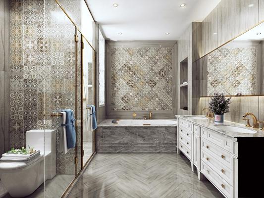 现代卫浴空间3D模型【ID:16979167】