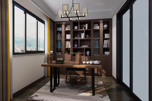 新中式书房3D模型【ID:16980974】