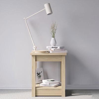 北欧实木方形角几台灯书籍摆件3D模型【ID:16987139】