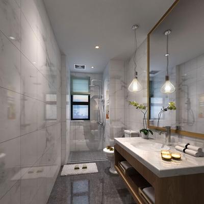 现代卫浴空间3D模型【ID:16997866】
