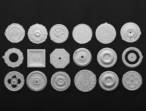 歐式石膏圓盤構件3D模型【ID:648243189】