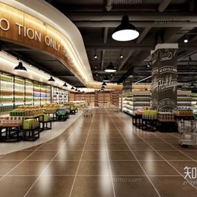 超市红酒区3D模型【ID:828137058】