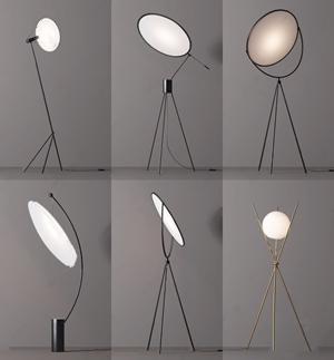現代輕奢落地燈組合3D模型【ID:834272276】
