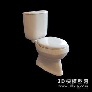 欧式马桶国外3D模型【ID:929860919】