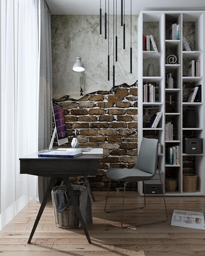 北欧书桌椅书架吊灯壁灯垃圾桶书籍摆件3D模型【ID:17009895】