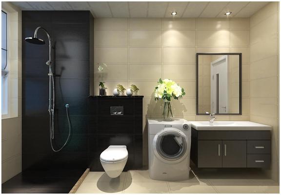 现代卫浴空间3D模型【ID:17011368】