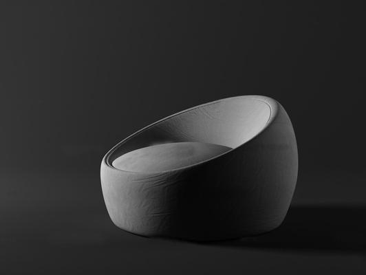 现代布艺懒人休闲沙发3D模型【ID:17016620】