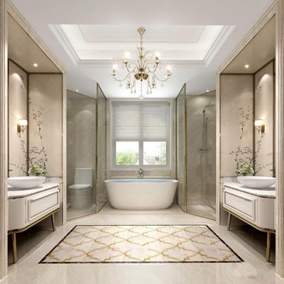 现代卫浴空间3D模型【ID:17026563】